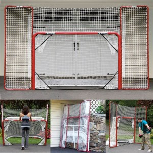 EZGoal-Hockey-Folding-Pro-Goal-with-Backstop-and-Targets-2-Inch-Red-White