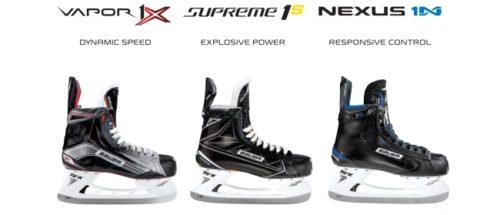 Bauer Hockey Skate Comparison - Supreme, Vapor, Nexus