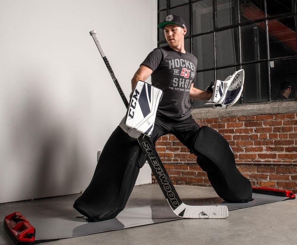 HockeyShot Goalie Slide Board Pro
