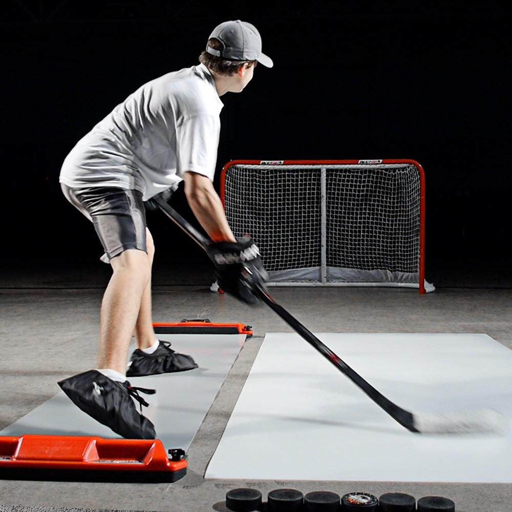 HockeyShot Shooting pad/Slide Board combo